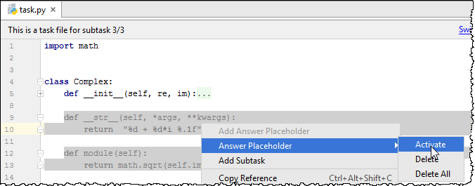 pe activate placeholder