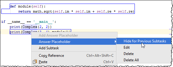 pe hide placeholder