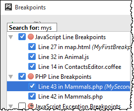 ps breakpoint search