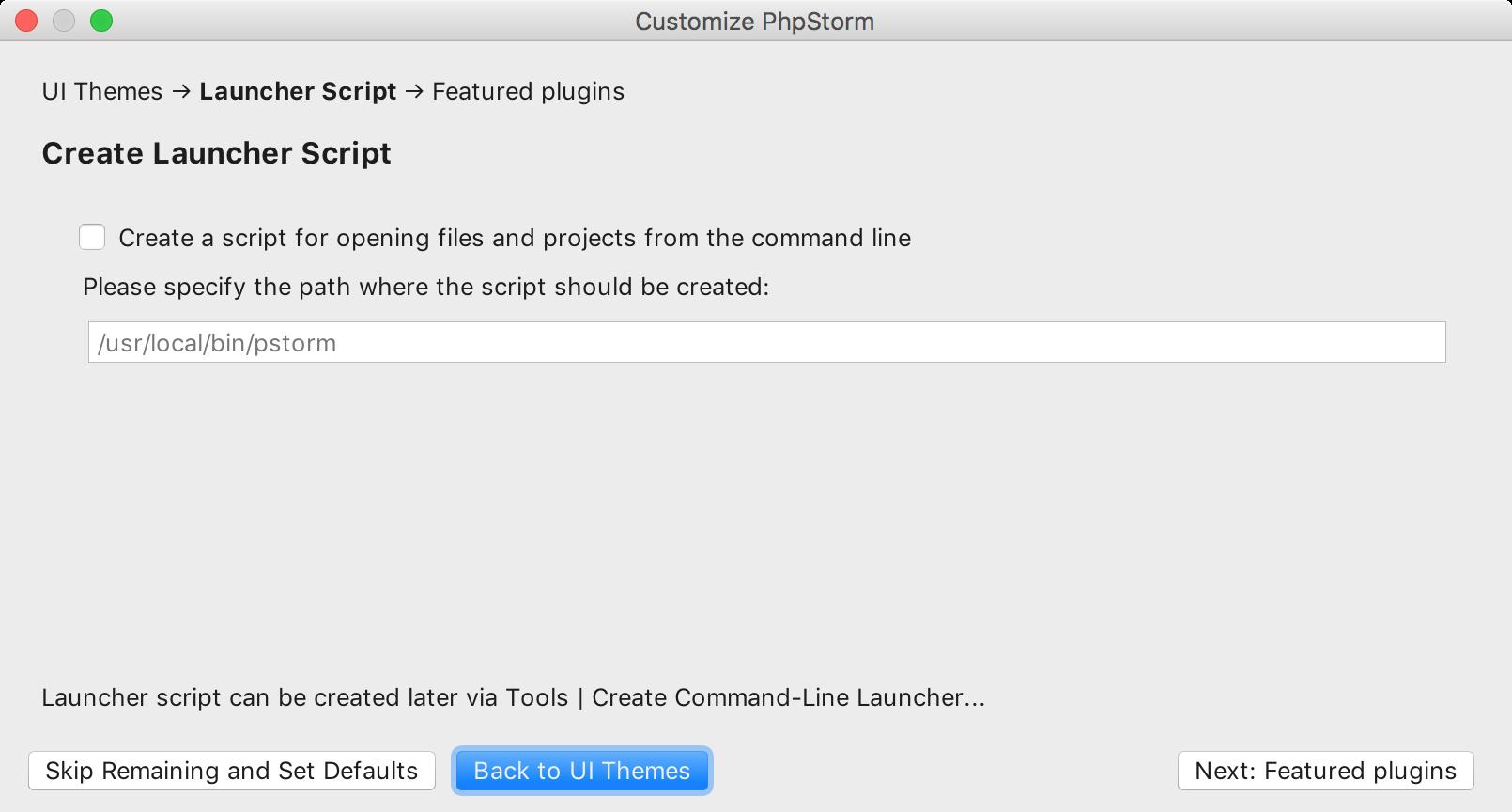 ps create launcher script