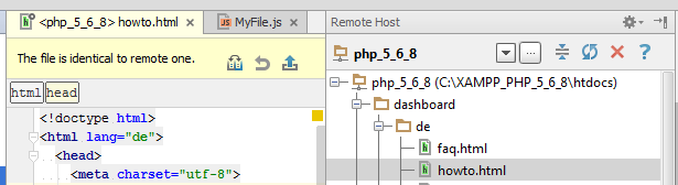 ps edit file on remote host 1