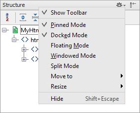 ps tool windows title bar