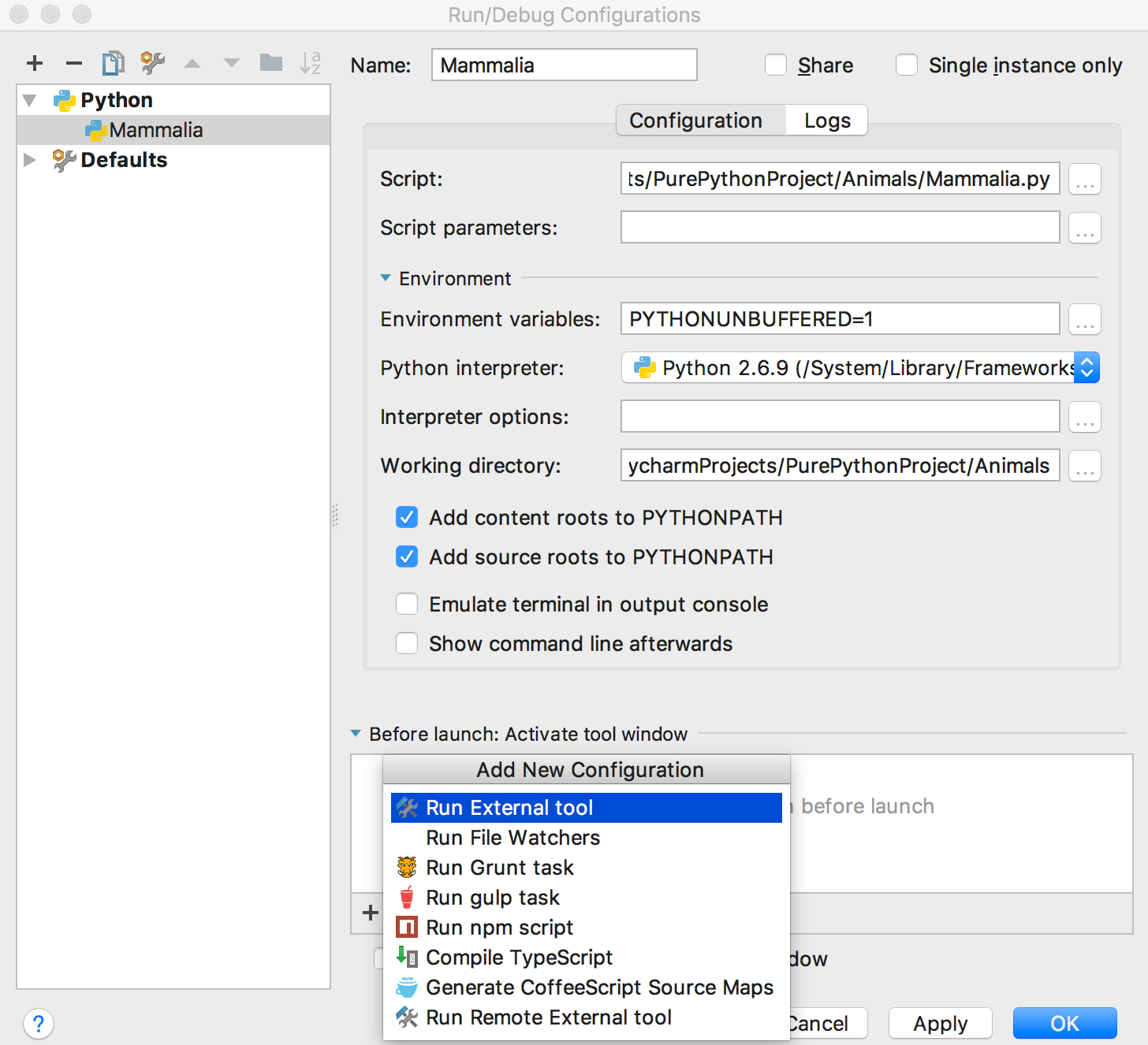 py QST runDebugConfiguration