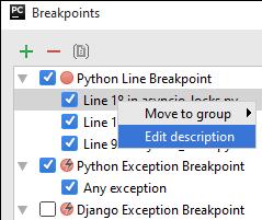 py breakpoint description