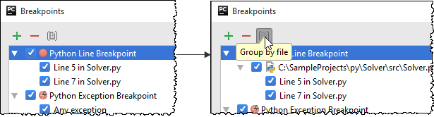 py breakpoint group by file