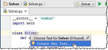 py create test solver