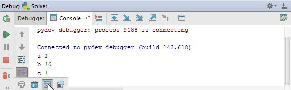 py debug console tab
