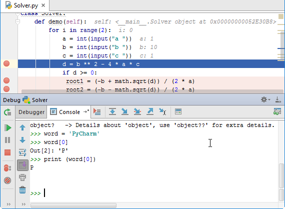 py debug console tab interactive