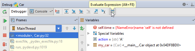 py debugging1 evaluate expression