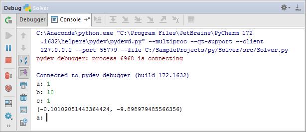 py debugging next input