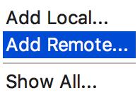py remote interpreter choose