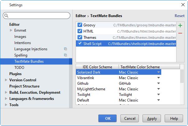 py textmatebundles import result