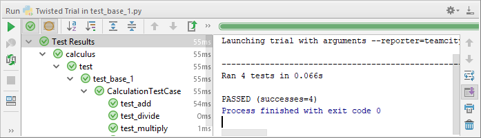 py twisted trial tests passed
