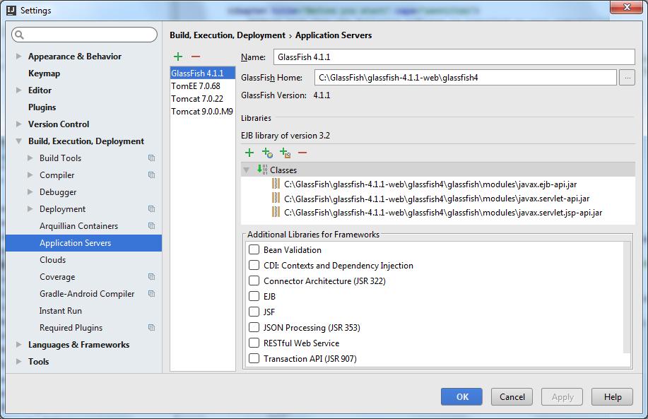 rest ws glassfish configure app server step 2