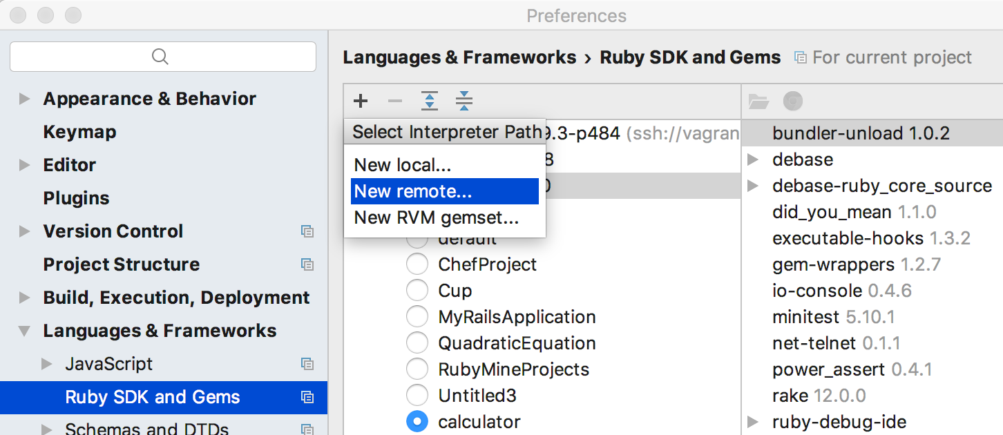 rm add remote ruby interpreter