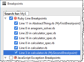 rm breakpoint search