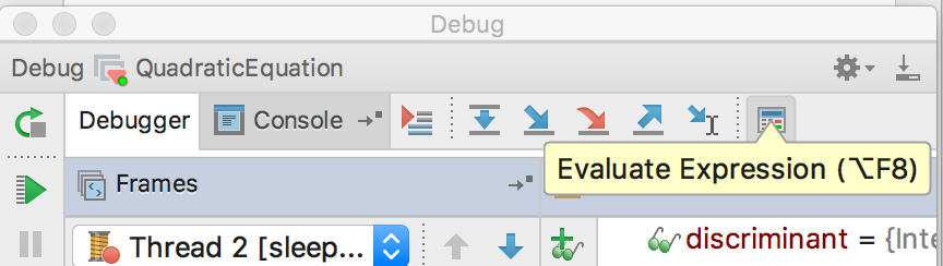 rm debugging1 evaluate expression