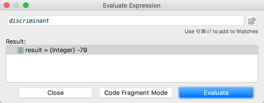 rm debugging1 evaluate expression action