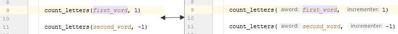 rm parameter hints