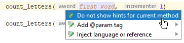 rm parameter hints blacklist 1
