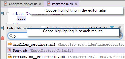 rm scope highlighting