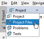 rm scopes in project tool window