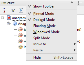 rm tool windows title bar