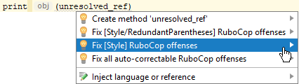 rubocop intentions