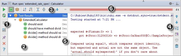 ruby test runner tab