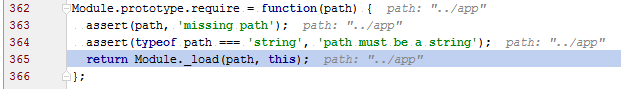 ws inline debugging