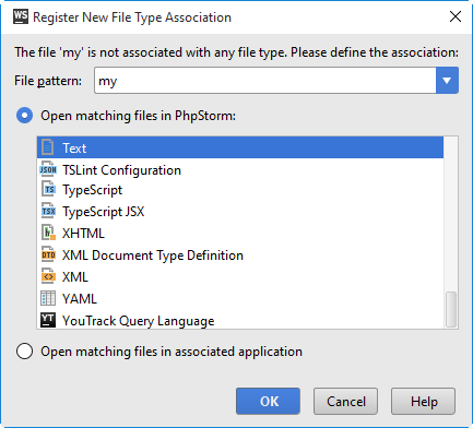 ws register file type