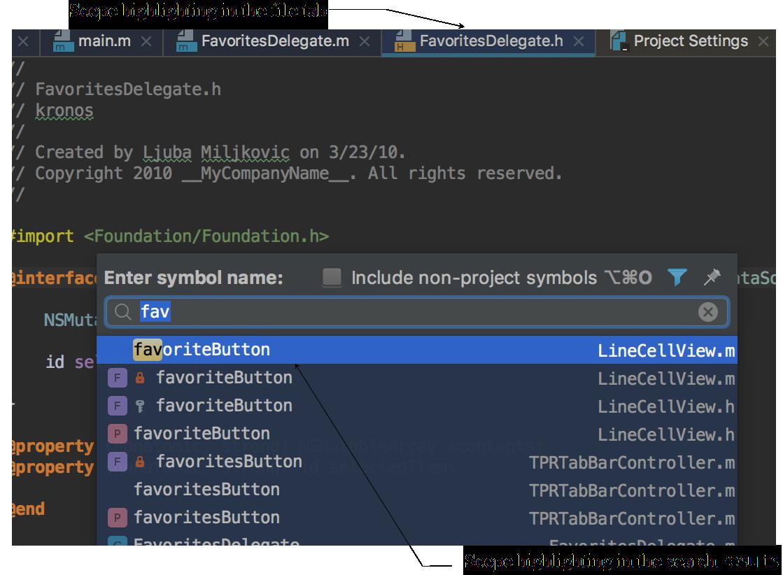 AppCodeScopeHighlighting