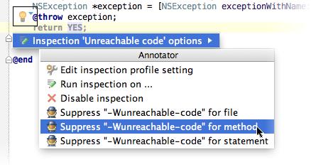AppCodeSuppressWarnings