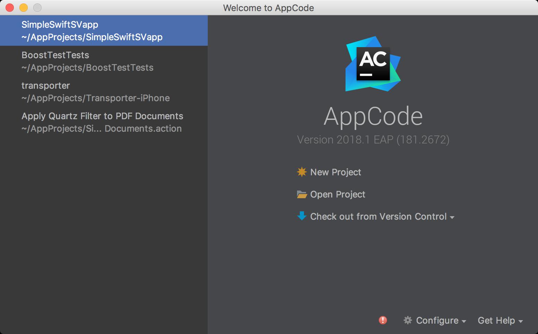 AppCodeWelcomeScreen