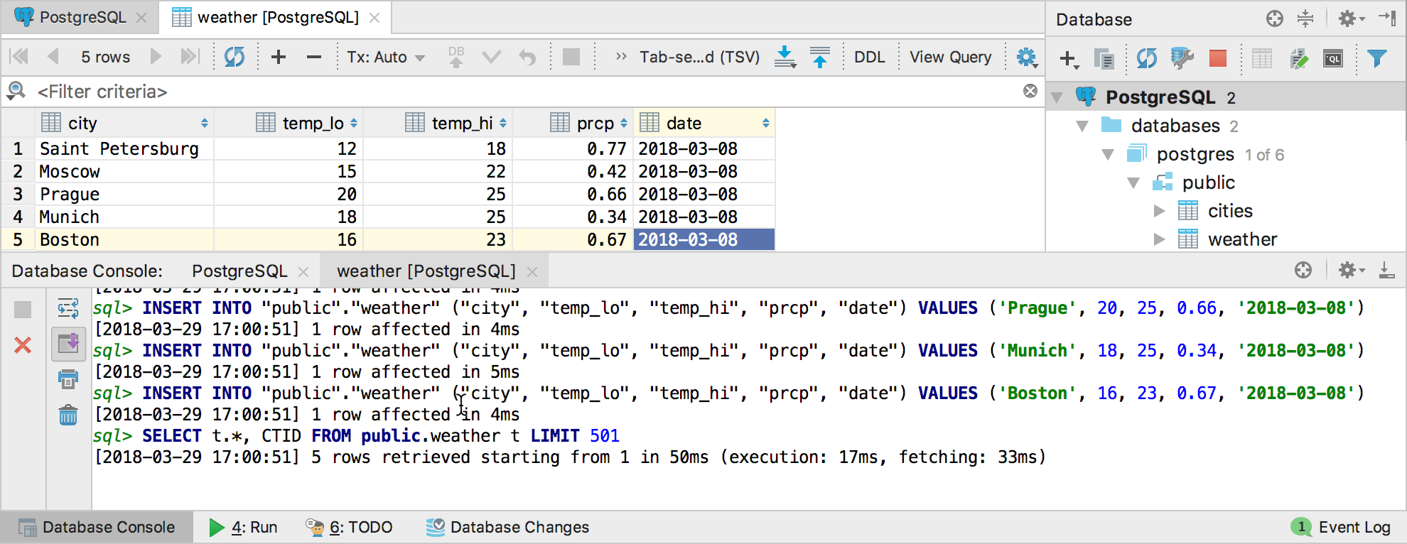 Working with the data editor help phpstorm you can sort filter add edit and remove the data from tables when you submit changes to the database the database console tool window shows the urtaz Choice Image
