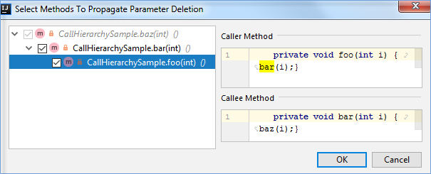 SelectMethodsToPropagateParameterDeletion