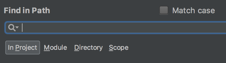 ac searchScope