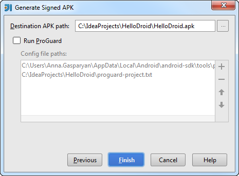 android apk wizard step3
