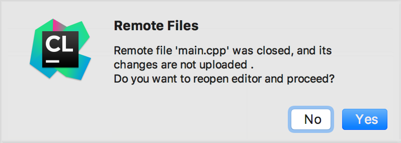 cl remote file unsaved