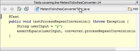 codeCoverage popup