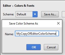 copy editor color scheme
