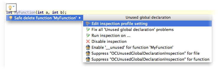 editInspectionProfileSettings