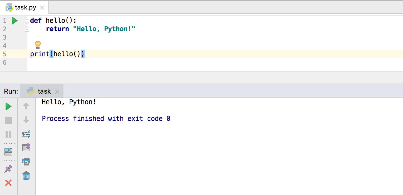 edu task run python