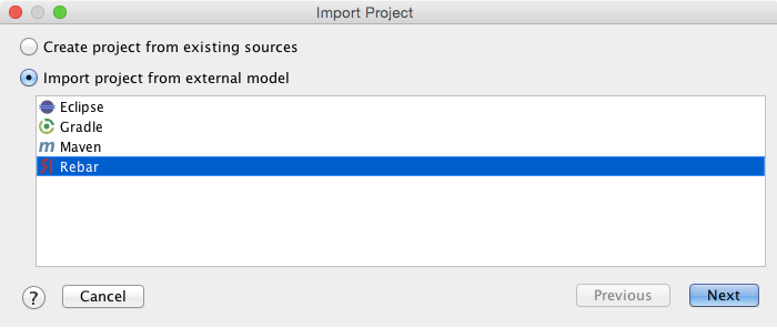erlang import project