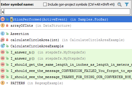 Navigating To Class File Or Symbol By Name Help Intellij Idea