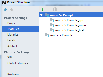 gradle source sets project structure