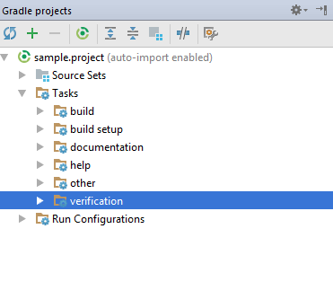 gradle tool window