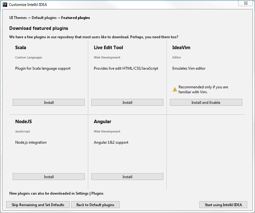 ij set featured plugins