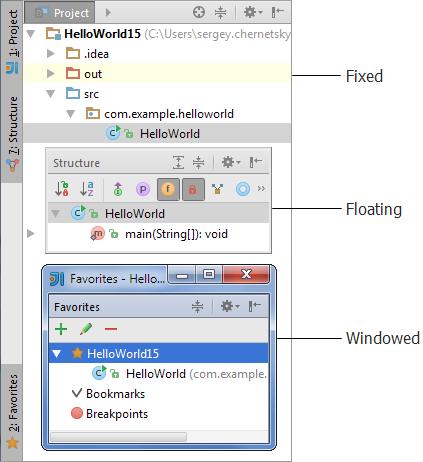 ij tool windows fixed floating