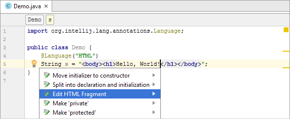 java inject annotation html edit